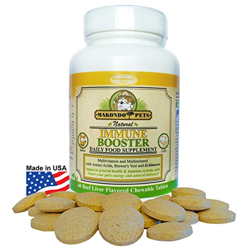 Dog Immune System Boosters-Immunity Boost Supplements For Dogs/Cats -Health Support Chewable Treats (Linatone Food Supplement)