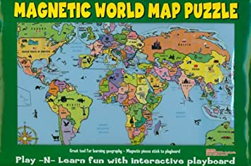 Magnetic world map puzzle with each country as a separate magnet magnetic world map puzzle with each country as a separate magnet rigid board 42 x gumiabroncs Images