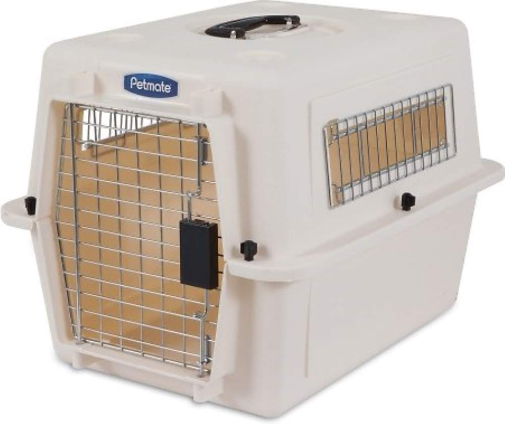 Petmate Ultra Vari Dog Kennel, Heavy-Duty, No Tool Assembly, 4 Sizes, Taupe/Black by Petmate (Image #1)