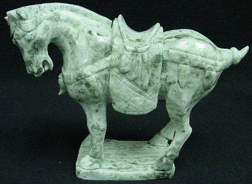 Jade Horse Statue (Jade Saddled Tang Horse Lh6)