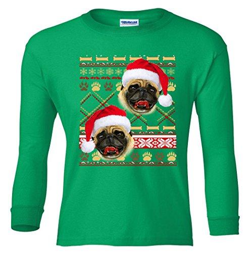 Long Sleeve Youth: Pug Ugly Christmas Sweater Shirt