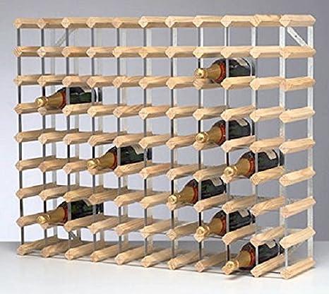 Amazon.com Traditional Wine Rack Dark Oak Finish (12 Bottles) Kitchen u0026 Dining & Amazon.com: Traditional Wine Rack Dark Oak Finish (12 Bottles ...