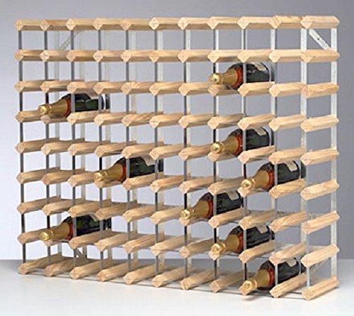 Traditional Wine Rack Natural Finish (90 Bottles)