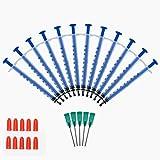 "15PCS 1ml Plastic Syringe 10pcs Syringe Cap/Blunt Needle Syringe/Syringe Blunt tip/Syringe with Needle/Industrial Syringes with 1.5"" 18Gauge Dispensing Needles/Blunt Needle tip"