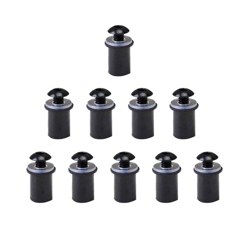 Kineca Universal 10PCS Motorcycle CNC Windscreen Windshield Bolts Screw Nut Fastener Kit Motorbike Mounting Nuts Automobile
