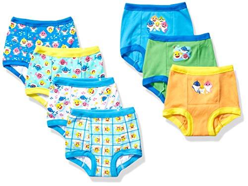 Baby Shark Boys' Toddler 7pk Potty Training Pant, 7-Pack, 4T