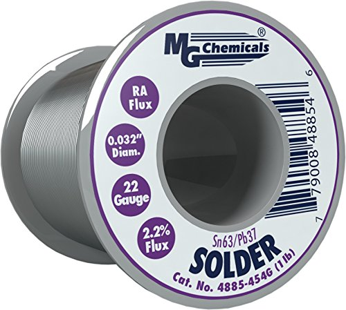 1 Spool Solder Lb - MG Chemicals 63/37 Rosin Core Leaded Solder, 0.032