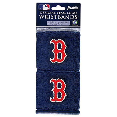 Baseball Wristband Red (Franklin Sports MLB Boston Red Sox Wristbands)