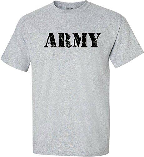 Joe's USA - Grey Vintage Army Logo Short (Joe Army T-shirt)