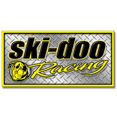(Edgewraps 2' x 4' Ski Doo Racing/Diamond Banner )