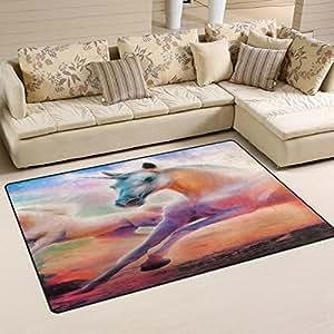 "lreraypo hermoso unicornio 31""x20"" antideslizante top calidad alfombra Felpudo"