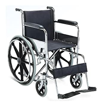 Buy KosmoCare Dura Rexine Mag Wheel Regular Foldable Wheelchair Online At  Low Prices In India   Amazon.in