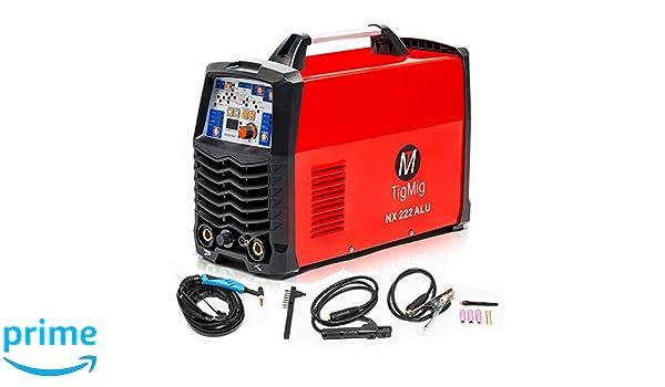 Inverter NX 222 Digital AC/DC 200 A Aluminio soldadura HF: Amazon.es: Bricolaje y herramientas