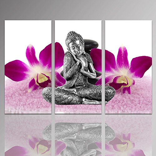 Sea Charm - Buddha Canvas Wall Art,Zen Orchid Wall Art,Act with