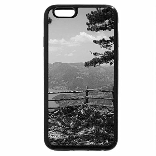 iPhone 6S Case, iPhone 6 Case (Black & White) - lookout on zaovine lake