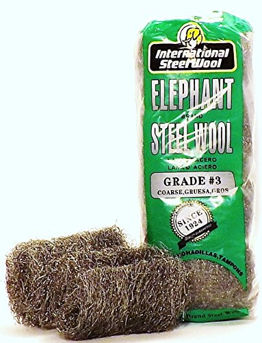 #3 Steel Wool Hand Pads (16 pads/bag), Case of 6 by Elephant Brand