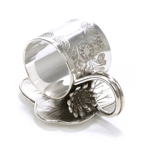Acme Silver Co. Napkin Ring, Figural by, Silverplate, Water ()