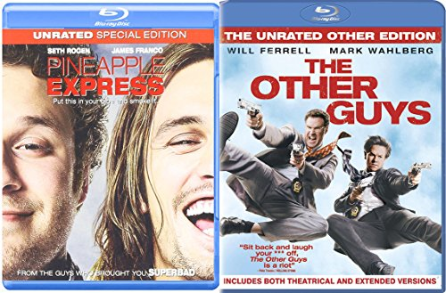 The Other Guys + Pineapple Express Blu Ray Set Comedy 2 Movies double feature bundle
