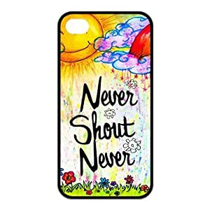 iPhone 4/4S Case, Never Shout Never Hard Snap-on Case for iPhone 4 / 4S Designed by HnW Accessories