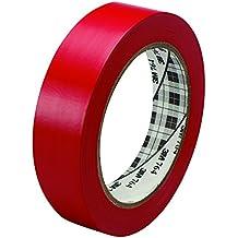 "3M T965764R6PK Vinyl Tape, 1"" x 36 yd, Red (Pack of 6)"