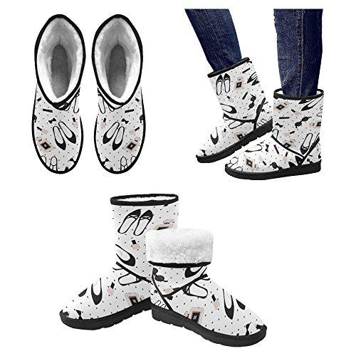 Interestprint Mujeres Snow Botas Unique Designed Comfort Botas De Invierno Cute Fashion Accessories Pattern Multi 1