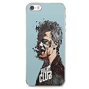 Loud Universe Bradd Pitt Fight Club Image Print iPhone SE Case with Transparent Edges Fight Club Phone Case