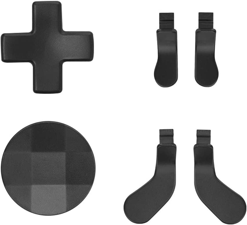 TOMSIN Metal D-Pads and Paddles for Xbox Elite Controller Series 2 & Series 1, Stainless Steel Replacement Parts Compatible with Xbox Elite Wireless Controller (Black)