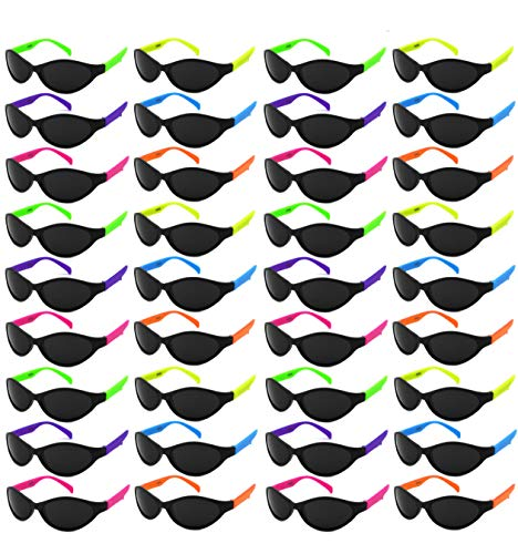 Edge I-Wear 36 Pack Kid or Adult Neon Party Sunglasses w/CPSIA certified-Lead(Pb) Content -