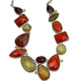 """16""""-20"""" Premier designs woman jewelry gold tone cluster bib resin necklace cut crystals"""