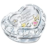 My Charming Daughter Crystal Music Box With Floating Charms And Poem Card by The Bradford Exchange