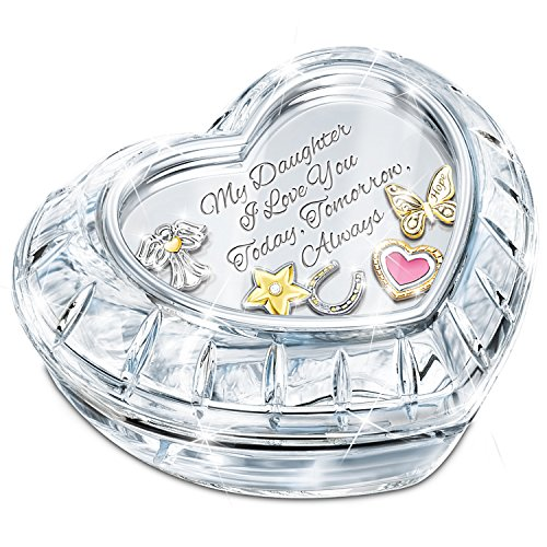 My Charming Daughter Crystal Music Box With Floating Charms And Poem Card by The Bradford Exchange ()