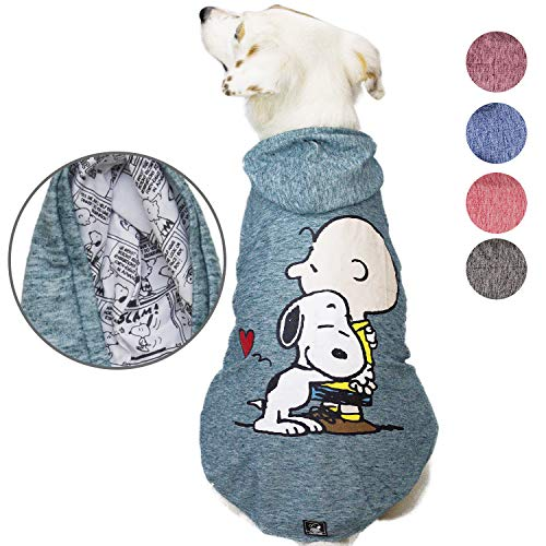 (Snoopy Dog Clothes Hoodie |Lightweight Sweatshirt for Dogs & Cats in 5 Different Sizes and Styles |Supreme Hoodies for Dogs, Puppy to XL Pets Dog Sweatshirts for Small, Medium and Large)