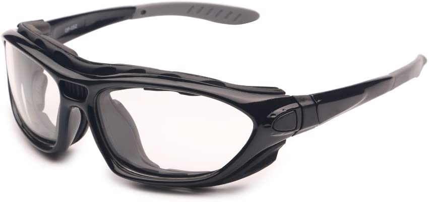 EnzoDate 2 Motorcycle Goggles Polarized Clear Lenses Day Night Helmet Sunglasses Interchangeable Temples Strap