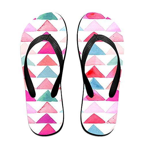 090f642b8 JILL JFEU Triangle Printing Unisex Flip Flops Sandal free shipping ...