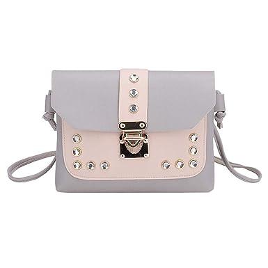 117549cb02d47 Btruely Umhängetasche Damen Satchel Tote Schultertasche Frauen Messenger  Bag Mode Strass Handtasche (Ein Größe