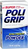 SUPER POLIGRIP Extra Strength Denture Adhesive Powder 1.60 oz (Pack of 12)