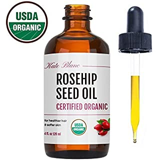 Rosehip Seed Oil by Kate Blanc. USDA Certified Organic, 100% Pure, Cold