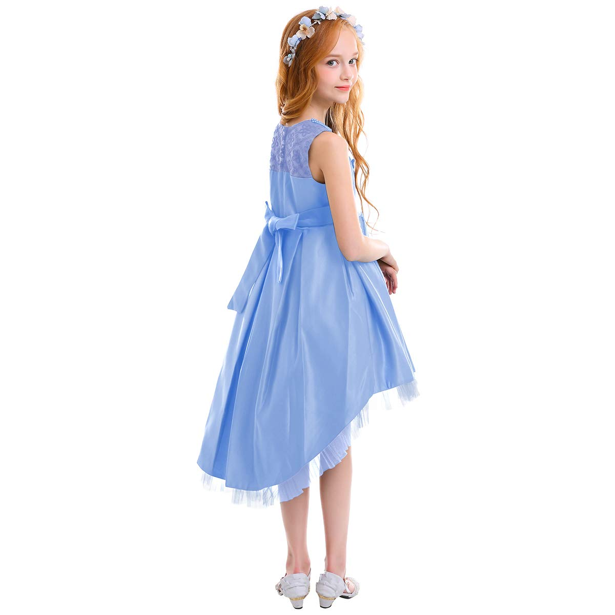 630bd4bb8 Amazon.com: Little Girls Floral High Low Dress Formal Wedding Ball Gown  Pageant Dance Party Flower Girl Dresses: Clothing