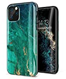 GVIEWIN Marble iPhone 11 Pro Max 2019 6.5'' Case/iPhone XI Max Case, Ultra Slim Thin Glossy Soft TPU Rubber Gel Phone Case Cover Compatible iPhone 11 XI Pro Max 6.5 Inch 2019 Release (Green/Gold)