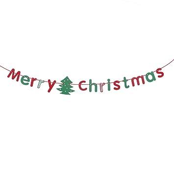 Frohe Weihnachten Anhänger.Tinksky Frohe Weihnachten Girlande Banner Bunting Flags