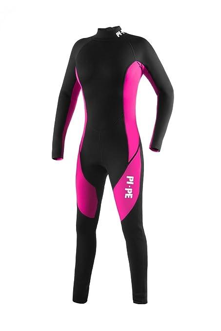 PI-PE Pure Full L S Women s Wetsuit - 3mm Neopren – Warm Long Sleeve Wetsuit  for Watersport b4c56e94e