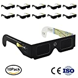 Eclipse Glasses CE and ISO Certified 10 Pack by OneAccess - Solar Eclipse Glasses For Kids 2017 - Safe Solar Viewing - Viewer and Filter - Solar Eclipse Schematic.August 21.2017