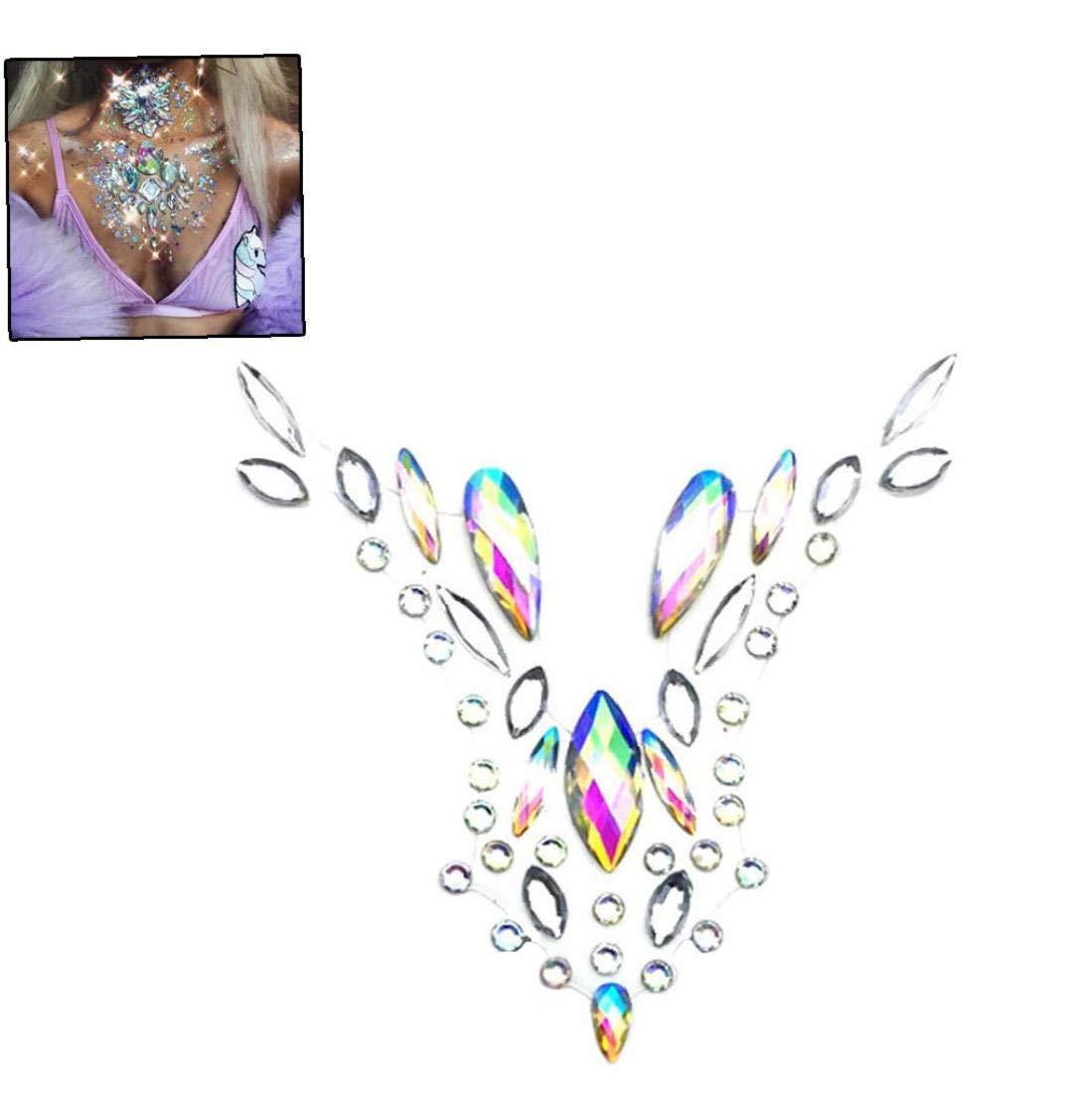 Pintura 1 Pc De Cristal En El Pecho Joyas Temporal Etapa Etiqueta ...