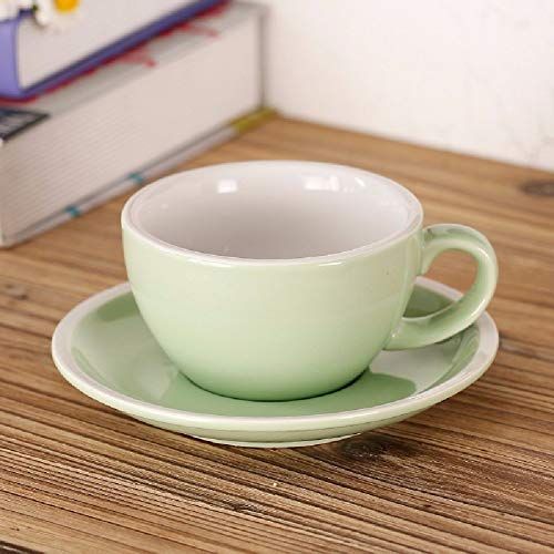- Sugar Pot For Coffee and Tea European Style Coffee Cup Dish Kuokou Embossed Lahua Latte Cup,Gray (Color : Emerald Color)
