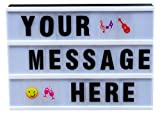Royal Brands Cinematic LED Light Box White with DIY Letters Emoji Symbols Numbers Office Wedding Party Sign Letter Board USB Cable