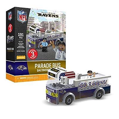 Baltimore Ravens OYO Sports Toys Parade Bus Set with 3 Minifigure 191PCS