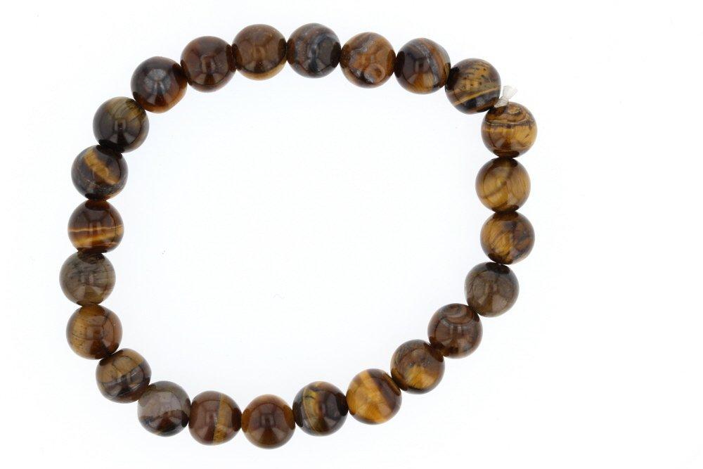 Fashion Tiger Eye Love Buddha Bracelet Elastic Rope Chain Lava Stone Bracelets Women Men Fine Jewelry