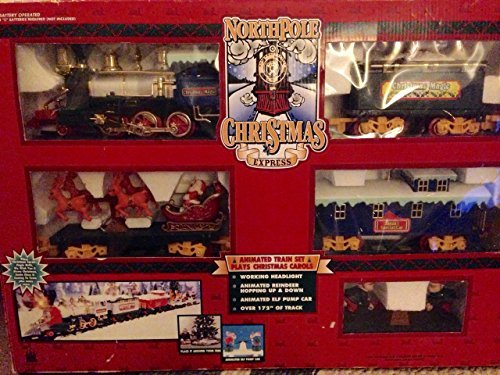 North Pole Christmas Express Train Set