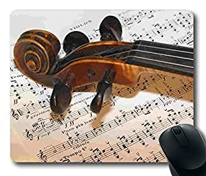 Classical Music Violin and Book Masterpiece Limited Design Oblong Mouse Pad by Cases & Mousepads