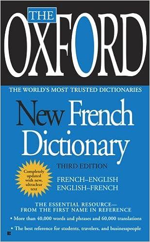 The Oxford New French Dictionary: French-English/English-French (French) price comparison at Flipkart, Amazon, Crossword, Uread, Bookadda, Landmark, Homeshop18